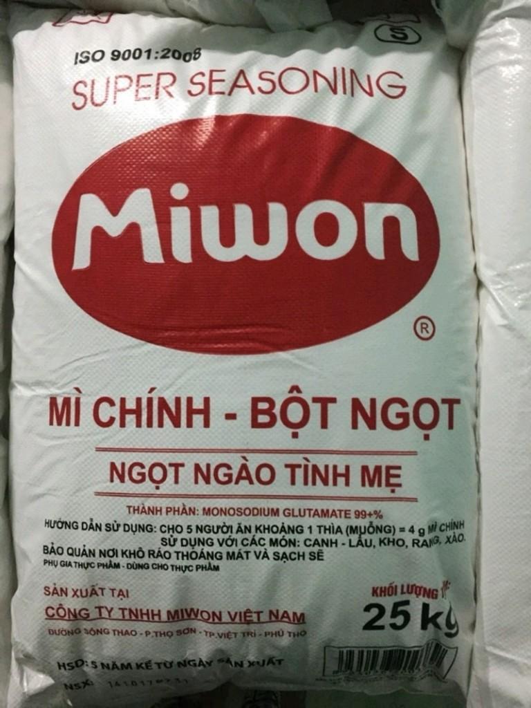 BỘT NGỌT MIWON – BAO 25KG